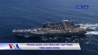 Trung Quốc chỉ trích Mỹ tập trận trên Biển Đông