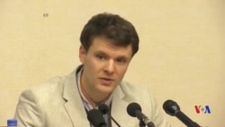 被北韓拘留的美國大學生承認竊取政治標語