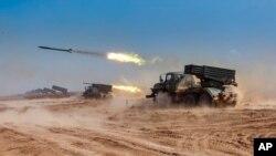지난해 9월 러시아 남부 지역 아슈루크 군사기지에서 러시아와 벨라루스, 아르메니아, 중국, 파키스탄, 미얀마가 참여한 군사 훈련이 실시됐다. (자료사진)