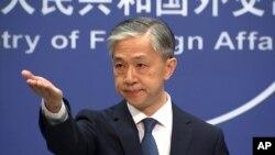 왕원빈 중국 외교부 대변인.