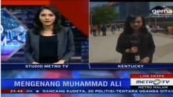 Laporan Langsung VOA untuk Metro Malam: Proses Pemakaman Muhamad Ali