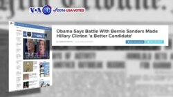 "VOA60 Elections - ABC News: President Obama: Battle between Clinton and Sanders was a ""healthy thing' for the Democratic Party"