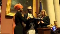 第一位索马里裔美国人妇女宣誓就任州议员