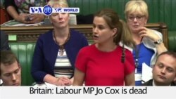 VOA60 World PM UK: Killing of MP Stops Brexit Campaigning