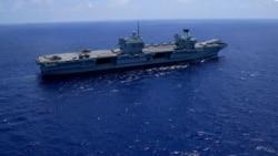 日本和英國進行聯合海軍演習