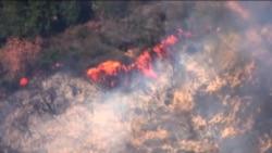 امریکہ میں جنگل میں لگنے والی آگ پر قابو پانے کی کوششیں