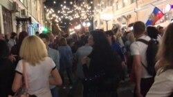 Pese a la derrota de Rusia ante Croacia celebran en Moscú