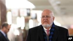 美國疾病控制與預防中心主任雷德菲爾德抵達參議院作證。(2020年1月24日)