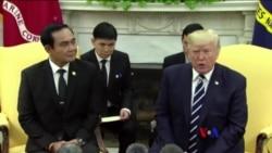 2017-10-03 美國之音視頻新聞: 川普在白宮歡迎泰國總理 (粵語)