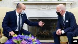 امریکی صدر اور اسرائیلی وزیر اعظم کی اوول آفس میں ملاقات