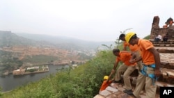 State Disaster Response personnel perform a search operation at a watchtower of the 12th century Amber Fort where 11 people were killed after being struck by lightning in Jaipur, Rajasthan state, India, July 12, 2021.