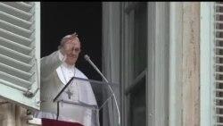 2013-03-17 美國之音視頻新聞: 教宗方濟發表首次星期日公開祁禱