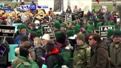 VOA60 America- Thousands traveled to Washington, DC for the annual March for Life