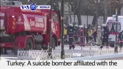 VOA60 World PM - Turkey: A suicide bomber affiliated with the Islamic State kills at least 10 people