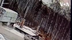 Nga: Xe tải đứt phanh, lao thẳng vào siêu thị