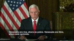 """Pence en Ecuador: """"Venezuela está colapsando"""""""