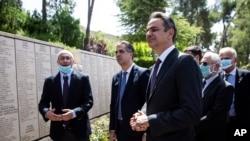 Yunanistan Başbakanı Kyriakos Miçotakis, 16 Haziran 2020'de Kudüs'teki Yad Vaşem Yahudi Soykırımı Müzesi'ni ziyaret etmişti.