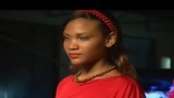 Lady in Red Tanzania 2015 VOA Mitaani
