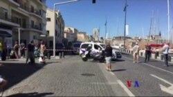 法國馬賽警方調查一宗車輛撞人事件(粵語)