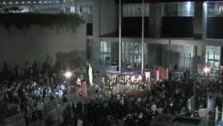 香港国民教育 支持反对人士隔空对峙
