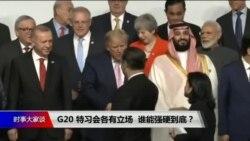 焦点对话:G20 特习会各有立场,谁能强硬到底?