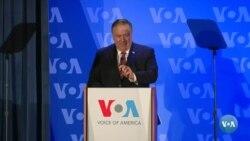 Pompeo destaca o 'excepcionalismo' americano em visita à VOA
