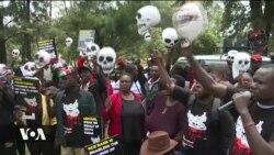 Raia wa Sudan Kusini wandamana Kenya