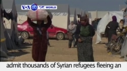 VOA60 World PM - Turkey refuses to admit thousands of Syrian refugees