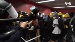 ฮ่องกงตึงเครียดหลังผู้ประท้วงทะลักเข้าสนามบินอีกนับสิบเจ็บหลังปะทะตำรวจ
