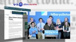 VOA60 America- Bill Clinton's campaigning for Democratic frontrunner Hillary Clinton pays off