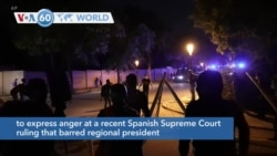 VOA60 Addunyaa - Catalan independence supporters met in Barcelona to protest a Supreme Court court ruling