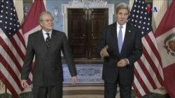El secretario de Estados de EE.UU., John Kerry, recibe a canciller peruano Gonzalo Gutiérrez
