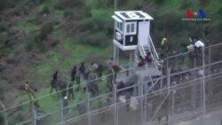 Yüzlerce Kişi Engelleri Aşarak İspanya'ya Kaçtı