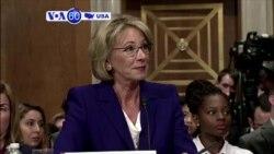 VOA60 America - Pence Casts Historic Senate Vote to Confirm Trump's Education Pick
