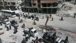تخلیه ساکنان غوطه شرقی همچنان ادامه دارد