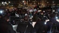Антивоенный митинг в Нью-Йорке