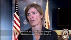 Samantha Power explique le sens de la mission des ambassadeurs du Conseil de sécurité au Burundi
