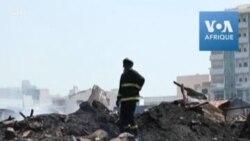 Un incendie a ravagé le Parc Lambaye, le marché du bois de Dakar