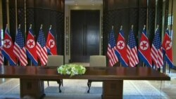 Trump y Kim: Firman documento