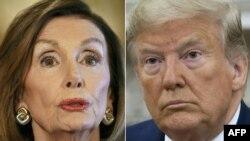 낸시 팰로시 미국 하원의장(왼쪽)이 도널드 트럼프 대통령(오른쪽)에 대한 탄핵을 추진할 것이라고 밝혔다.