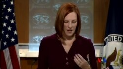 2014-05-21 美國之音視頻新聞: 美國籲俄遵守中俄聯合聲明原則 停止分裂烏克蘭