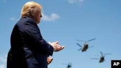 Predsjednik Donald Trump na diplomskoj ceremoniji klase 2020. na američkoj Vojnoj akademiji u West Pointu u New Yorku, 13. juna 2020.