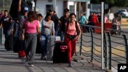Para migran Amerika Tengah yang mencari suaka di Amerika (foto: ilustrasi).