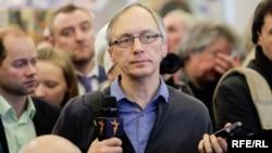 Radio Free Europe/Radio Liberty correspondent Ales Dashchynski is seen in an undated file photo.