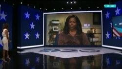 Мишель Обама, Берни Сандерс и Ева Лонгория в качестве ведущей