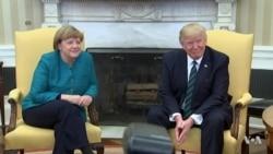 President Trump, German Chancellor Merkel Discuss Trade, NATO