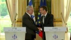 Macron Calls for Return to Negotiations on Two-state Solution in Middle East