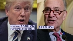 2018-12-24 美國之音視頻新聞: 邊界建牆經費僵局未解 美國政府繼續部分停擺