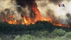 Cháy rừng tại biên giới bang Arizona và California