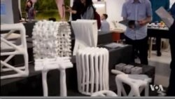 Furniture Printed Out of Plastic Waste